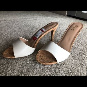 New Everyday White and Wood Heels